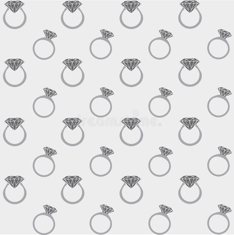 Modello senza cuciture degli anelli di diamante fotografia stock libera da diritti