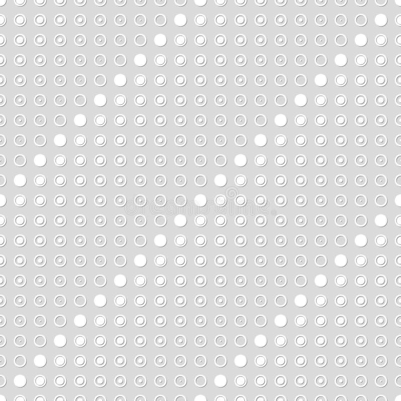 Modello senza cuciture dei cerchi e dei punti Punti dentro gli anelli illustrazione vettoriale