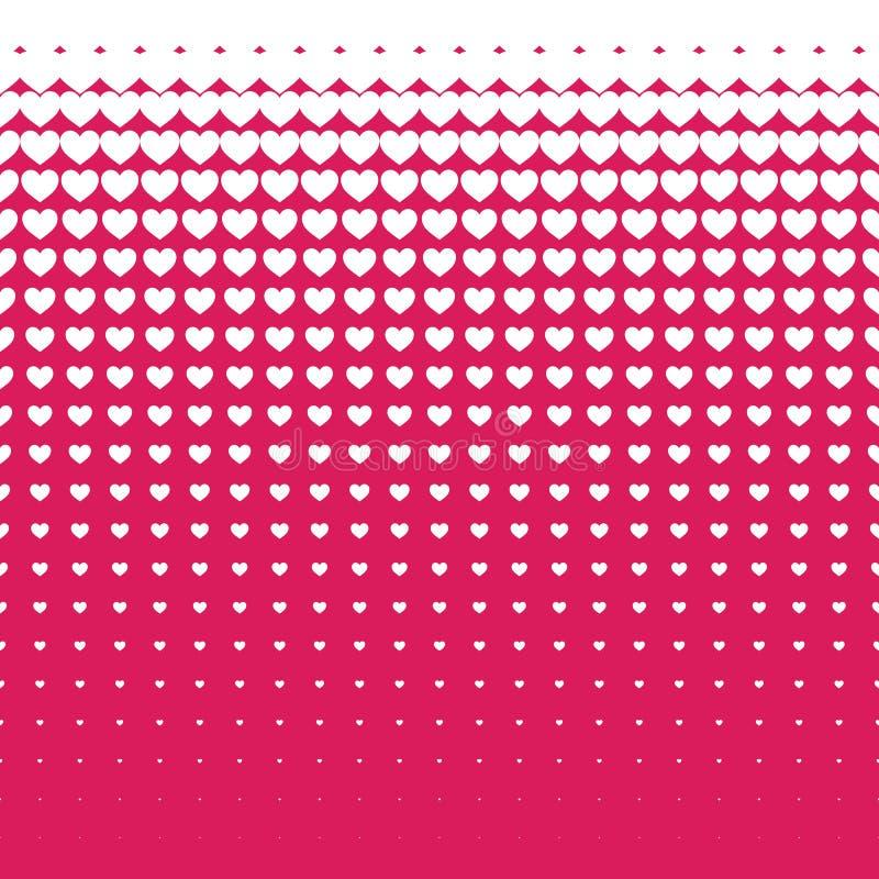 Modello senza cuciture dei cuori bianchi su fondo rosa, uso per la carta da parati, modello, fondo della pagina Web, strutture di illustrazione vettoriale