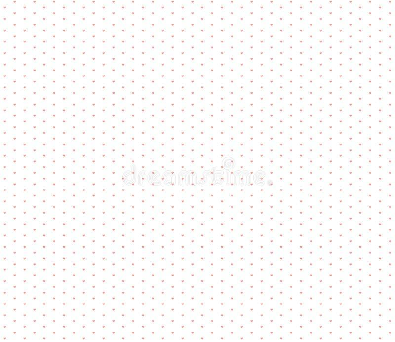 Modello senza cuciture dei cuori di carta da imballaggio poco cuore illustrazione vettoriale