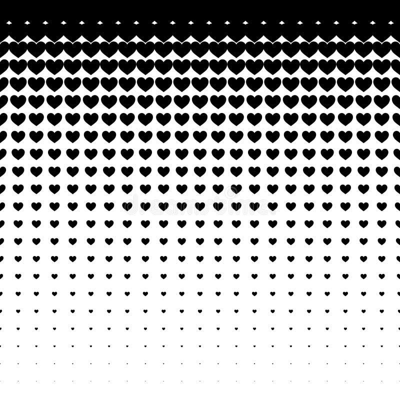 Modello senza cuciture dei cuori neri su fondo bianco, uso per la carta da parati, modello, fondo della pagina Web, strutture di  illustrazione vettoriale