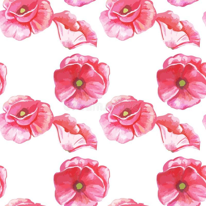 Modello senza cuciture dei fiori dei tulipani royalty illustrazione gratis