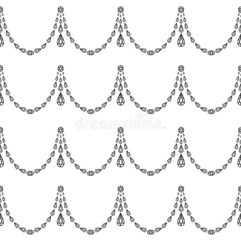 Modello senza cuciture dei pendenti di cristallo royalty illustrazione gratis