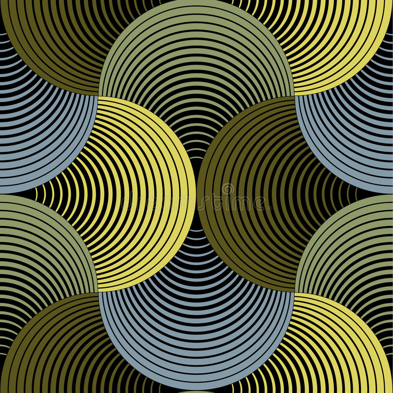 Modello senza cuciture dei petali di vettore geometrico decorato di griglia illustrazione vettoriale
