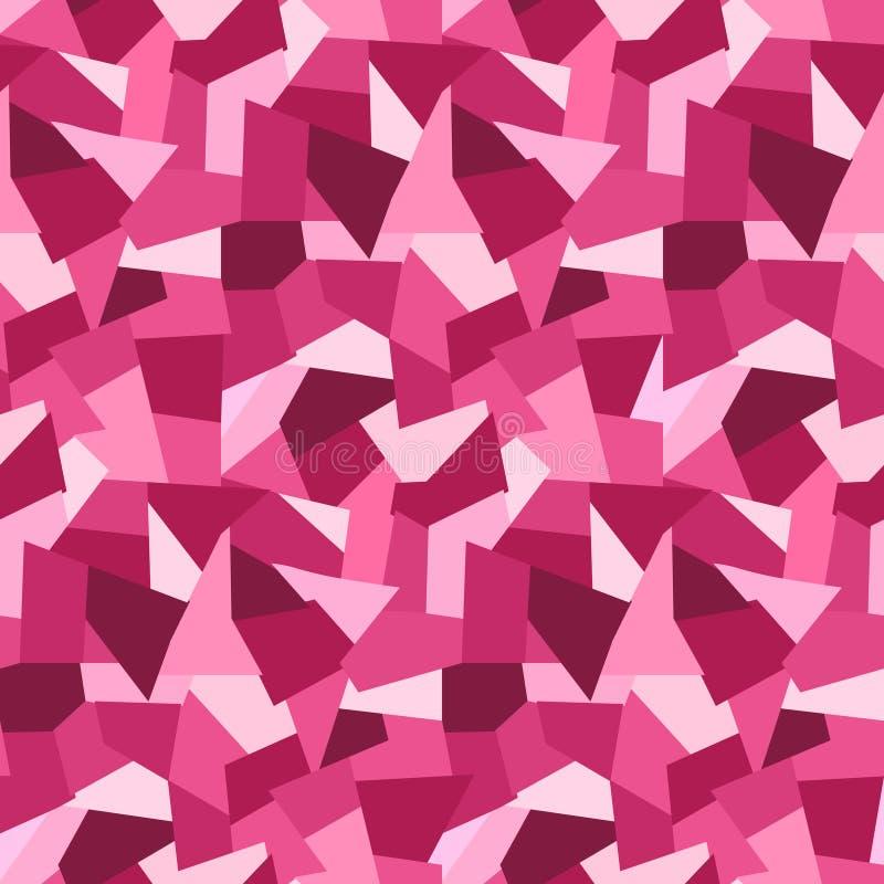 Modello senza cuciture dei poligoni bassi rosa astratti royalty illustrazione gratis