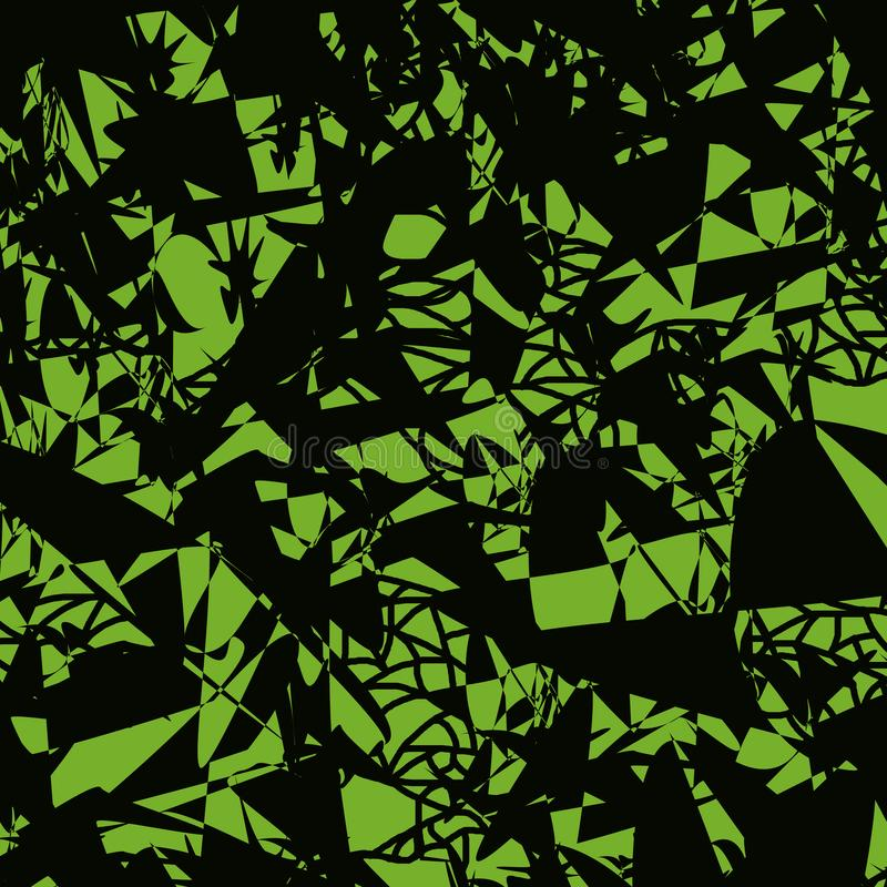 Modello senza cuciture dei punti e delle linee caotico sparsi illustrazione vettoriale