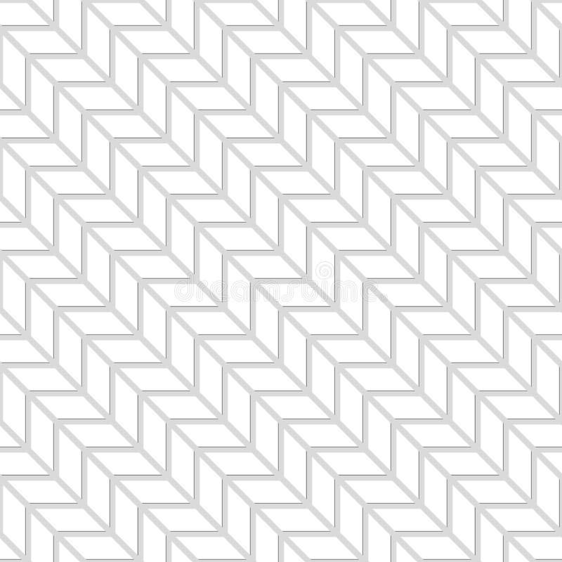 Modello senza cuciture dei quadrati bianchi del nero delle scale Backgro astratto illustrazione vettoriale