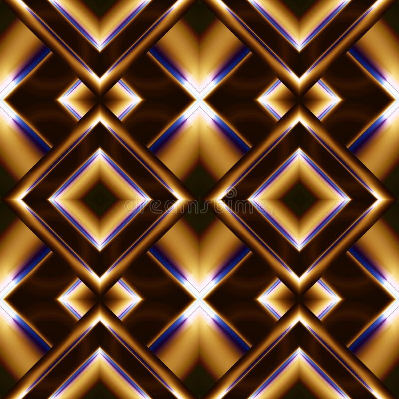 modello senza cuciture dei tessuti di rhombuses illustrazione di stock