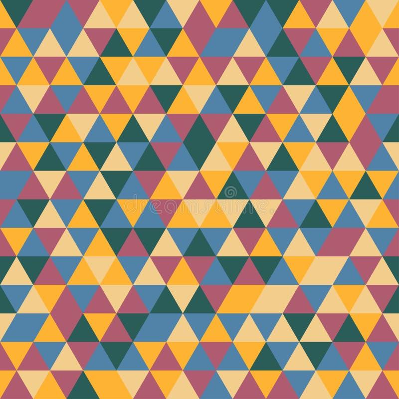 Modello senza cuciture dei triangoli di colore di vettore royalty illustrazione gratis