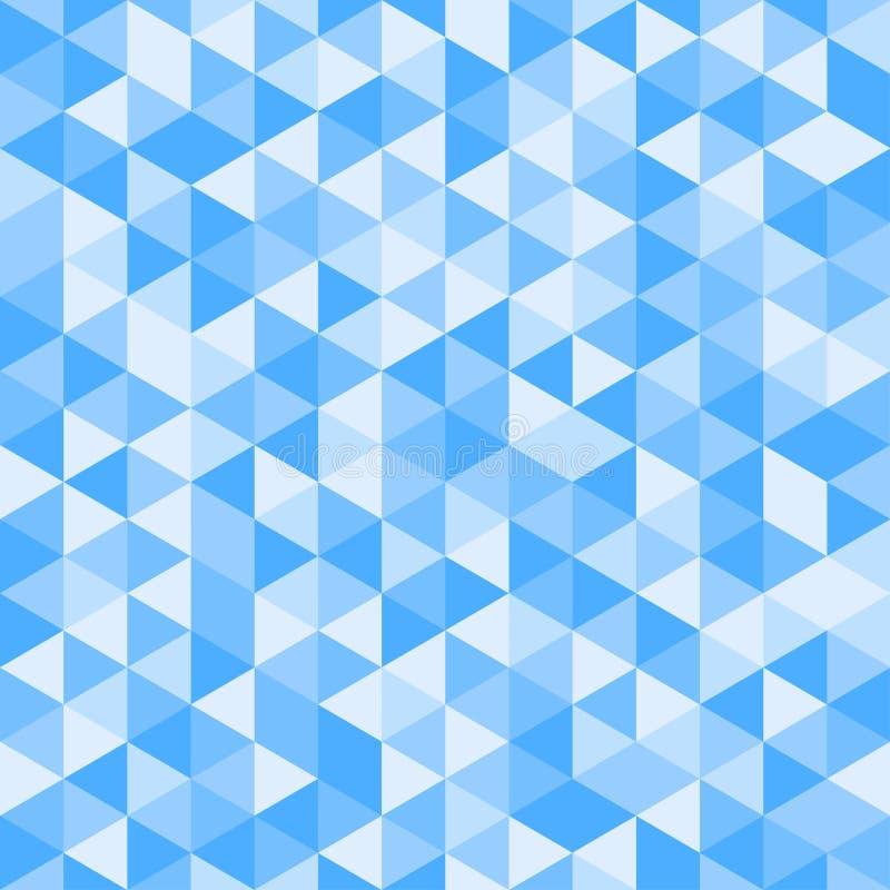 Modello senza cuciture dei triangoli di colore di vettore illustrazione di stock