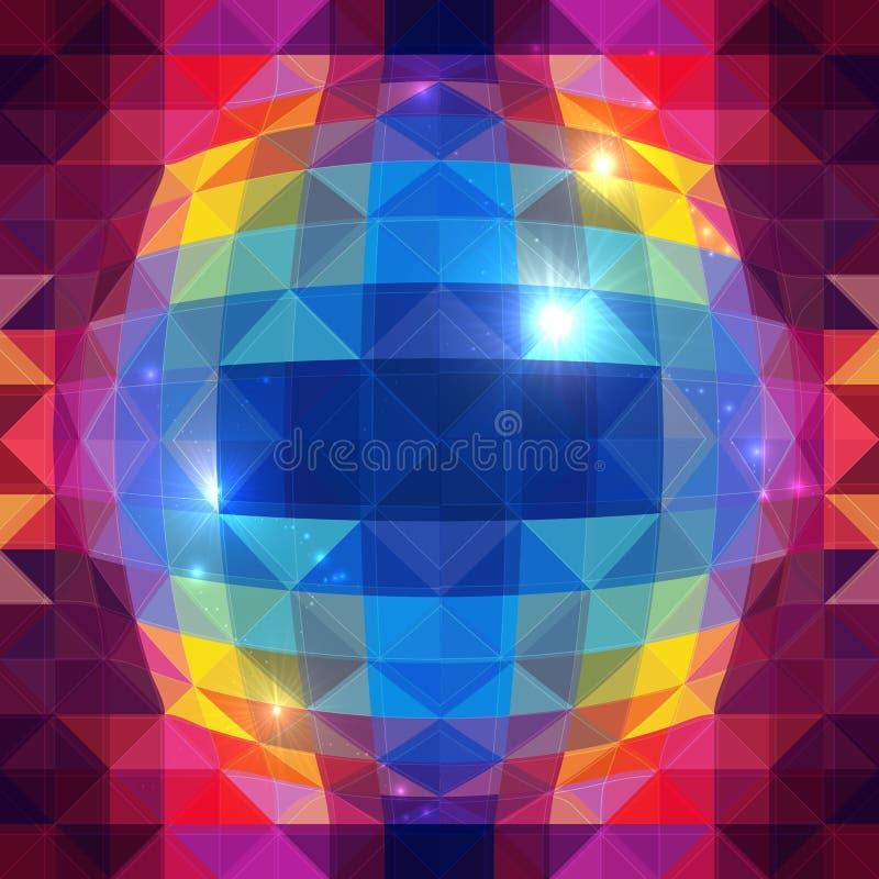 Modello senza cuciture dei triangoli di vettore astratto della sfera royalty illustrazione gratis