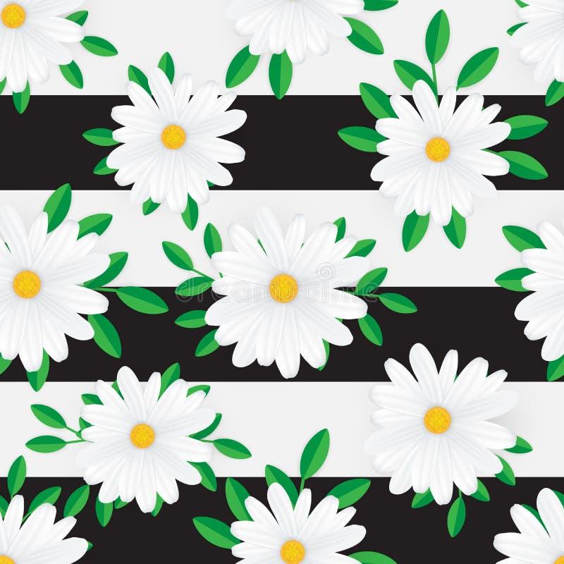 Modello senza cuciture del bello fiore su fondo geometrico royalty illustrazione gratis