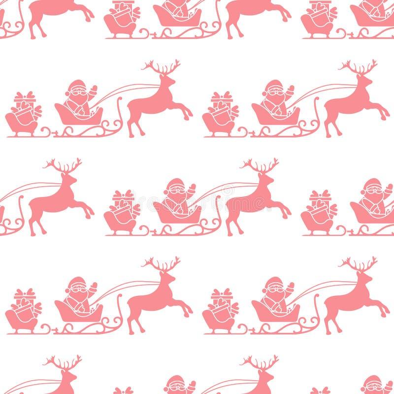 Modello senza cuciture del buon anno e di Natale 2019 illustrazione vettoriale