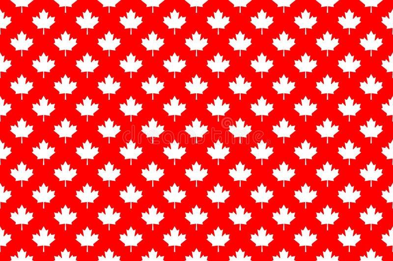 Modello senza cuciture del Canada dell'acero rosso illustrazione di stock