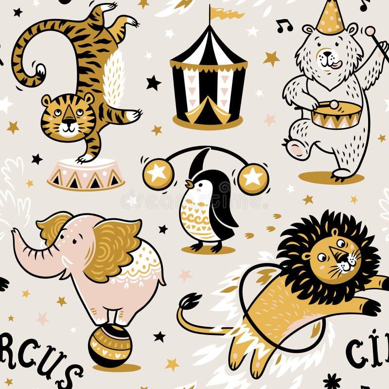Modello senza cuciture del circo illustrazione vettoriale