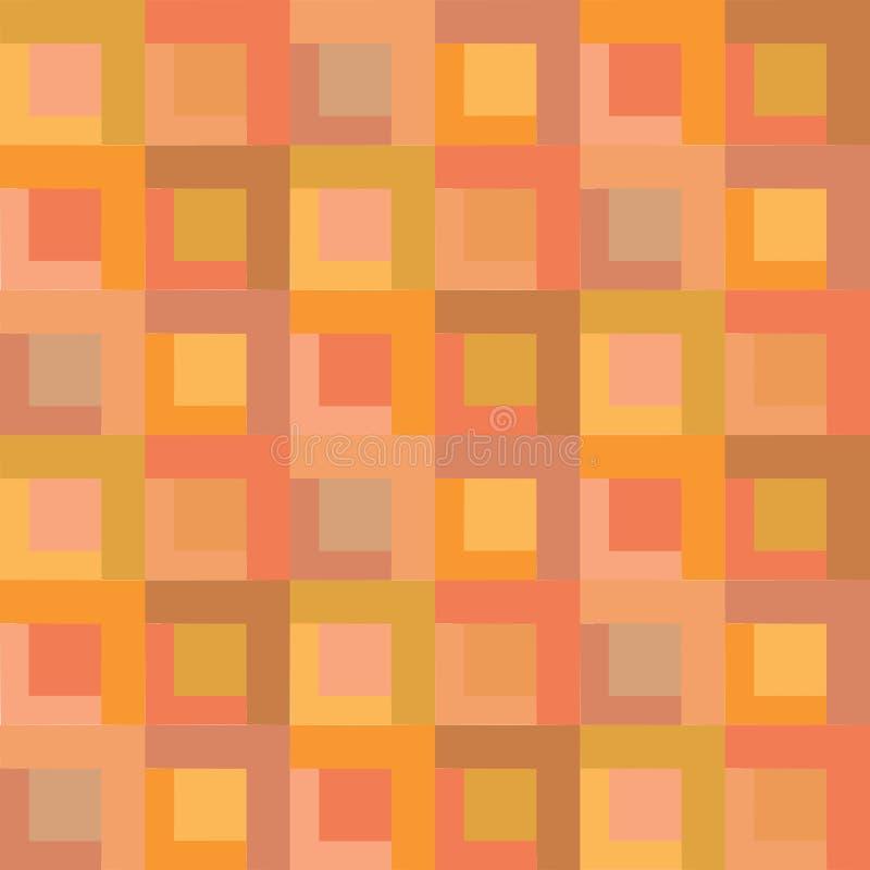 Modello senza cuciture del Colore-blocco variopinto astratto del fondo illustrazione di stock