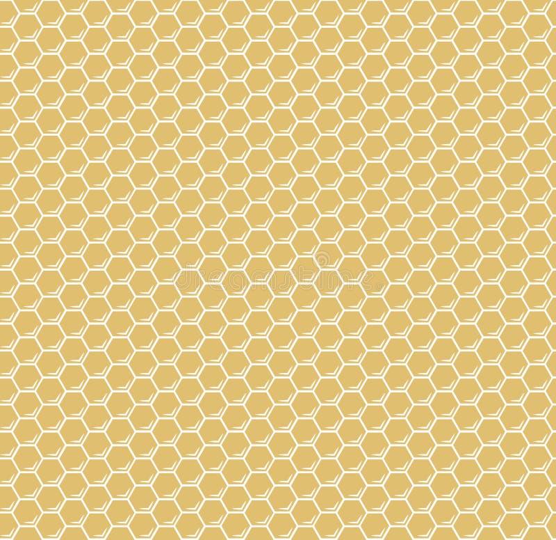 Modello senza cuciture del favo di vettore giallo di esagoni royalty illustrazione gratis