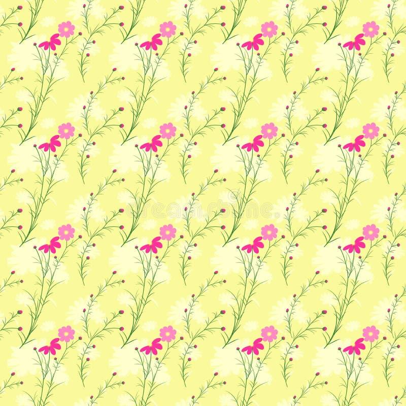 Modello senza cuciture del fiore variopinto dell'universo di primavera royalty illustrazione gratis