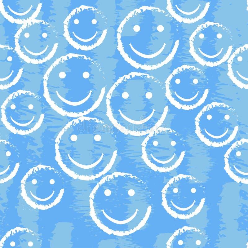 Modello senza cuciture del fronte di sorriso Struttura del fondo di vettore illustrazione vettoriale