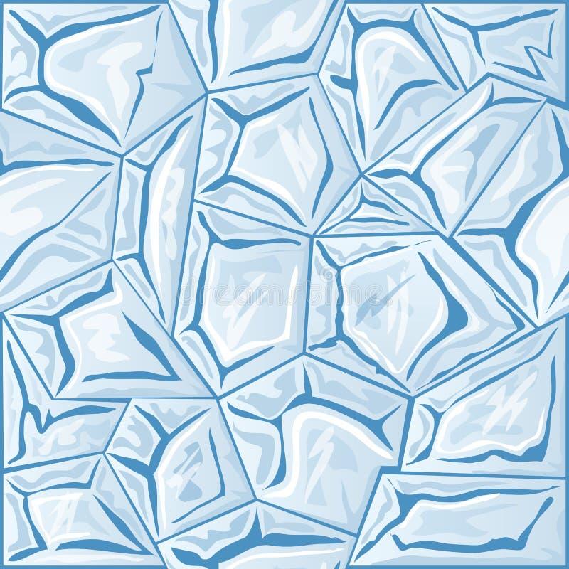 Modello senza cuciture del ghiaccio illustrazione di stock