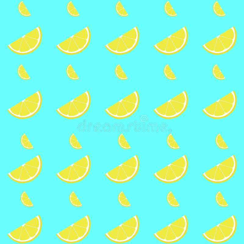 Modello senza cuciture del limone con la fetta fotografia stock libera da diritti