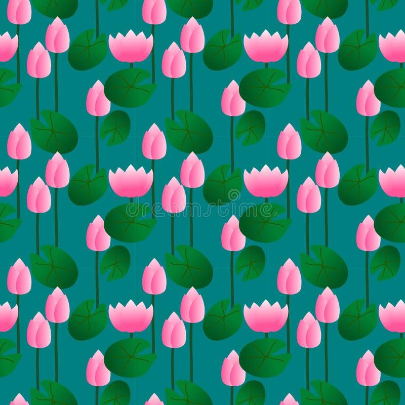 Modello senza cuciture del loto rosa royalty illustrazione gratis