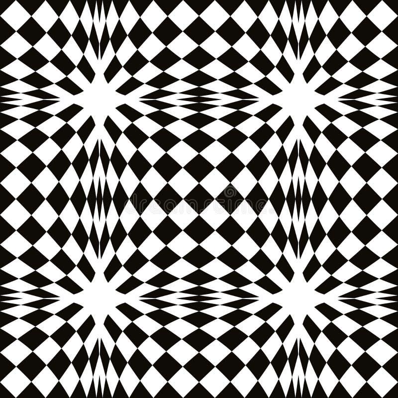 Modello senza cuciture del mosaico semplice in bianco e for Pavimento bianco e nero