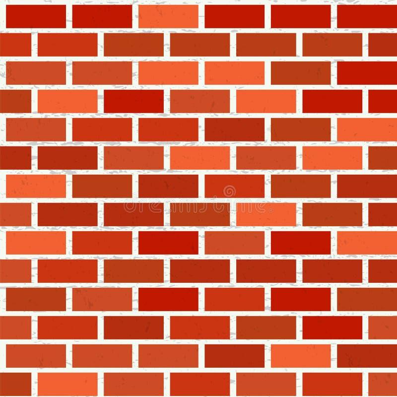 Modello senza cuciture del muro di mattoni rosso con struttura royalty illustrazione gratis