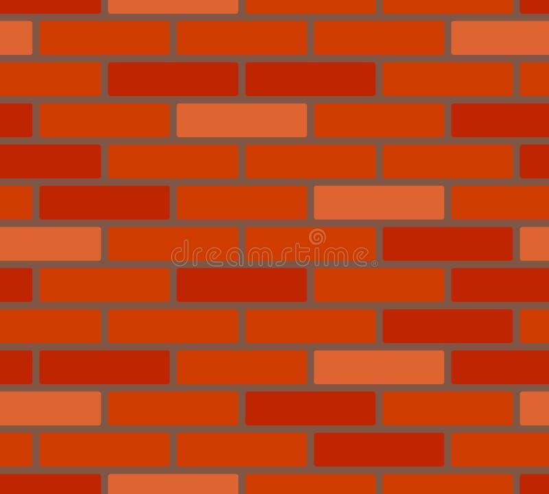 Modello senza cuciture del muro di mattoni rosso delle tonalità, vettore royalty illustrazione gratis