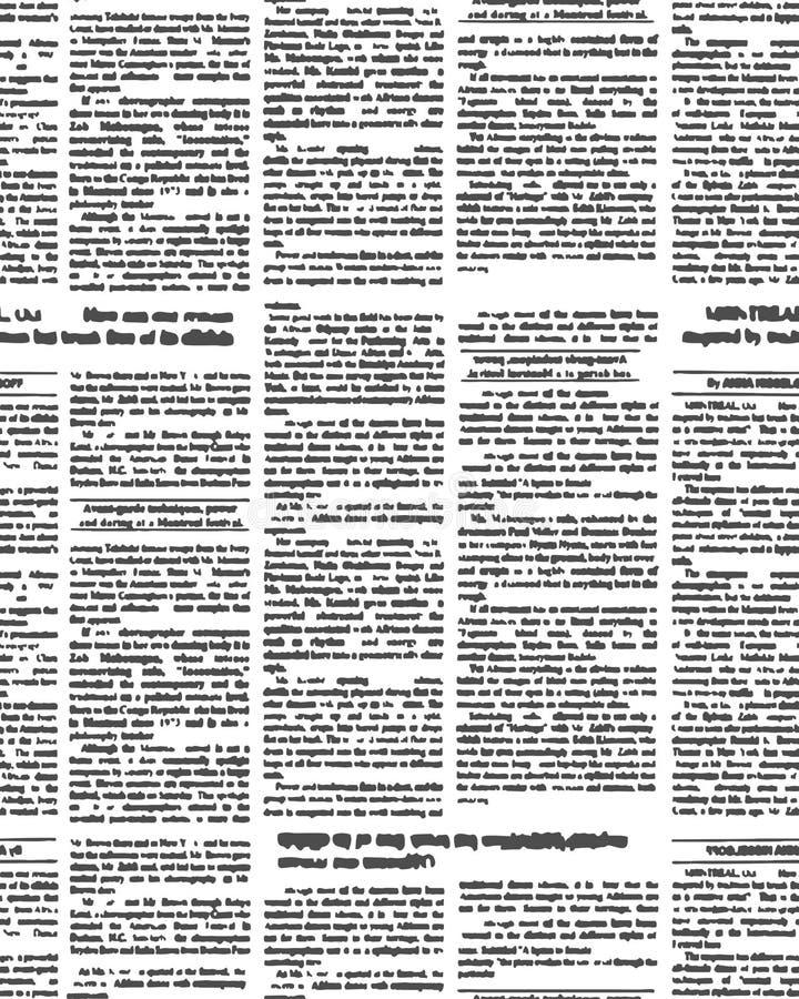 Modello senza cuciture del nuovo giornale Fondo di vettore del giornale t immagine stock libera da diritti