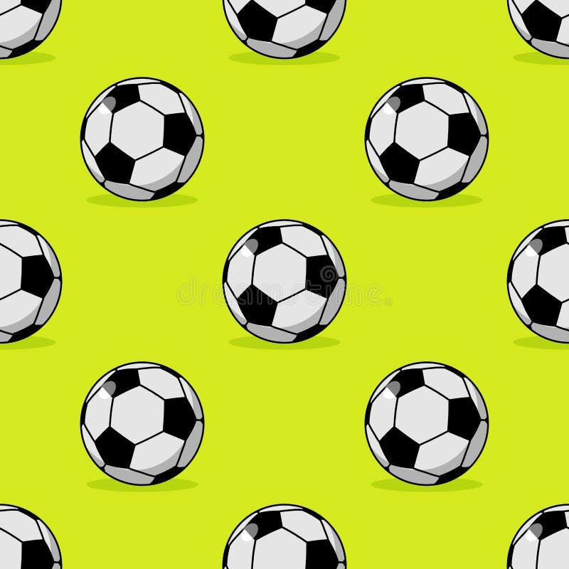 Modello senza cuciture del pallone da calcio Mette in mostra l'ornamento accessorio Footbal royalty illustrazione gratis