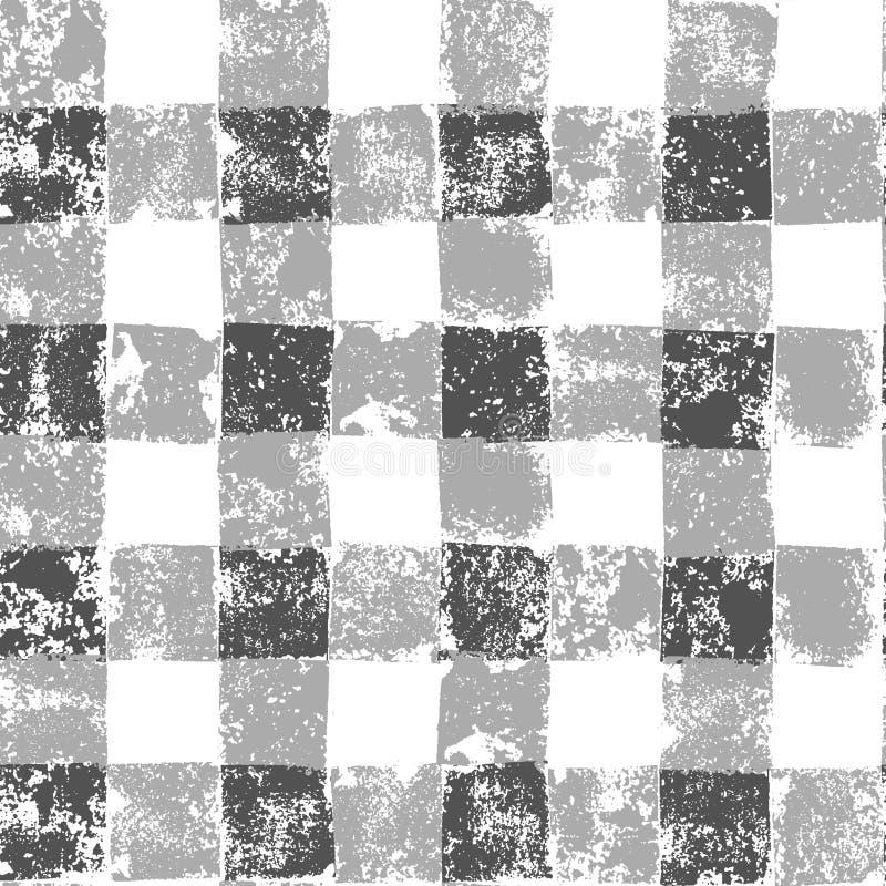 Modello senza cuciture del percalle a quadretti grigio e bianco di lerciume, vettore royalty illustrazione gratis