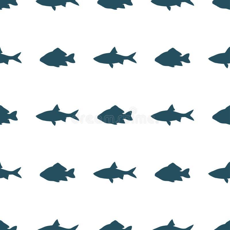 Modello senza cuciture del pesce royalty illustrazione gratis