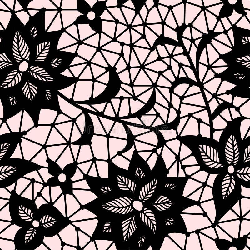 Modello senza cuciture del pizzo del fiore illustrazione - Modello di base del fiore ...