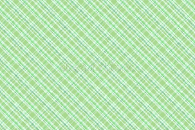 Modello senza cuciture del plaid di stile irlandese verde dell'acquerello royalty illustrazione gratis