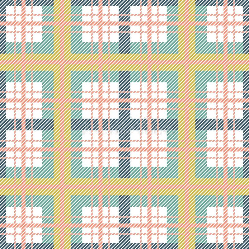 Modello senza cuciture del plaid scozzese Fondo di vettore del tartan di colori verdi illustrazione vettoriale