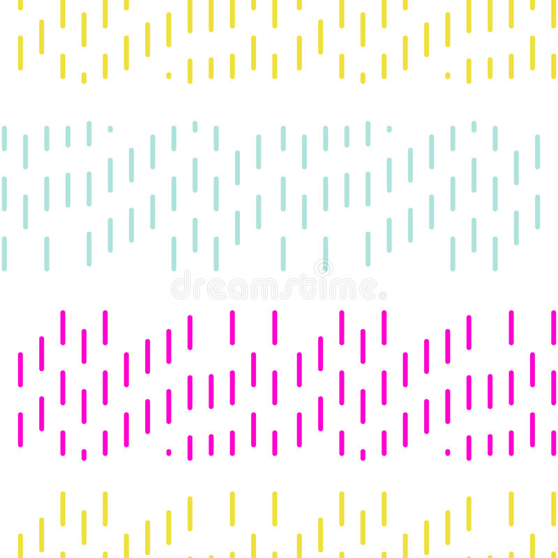 Modello senza cuciture del punto di vettore tratteggiato semplice del ricamo illustrazione vettoriale