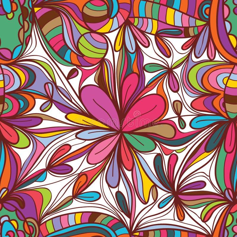 Modello senza cuciture del quadrato del disegno del fiore royalty illustrazione gratis