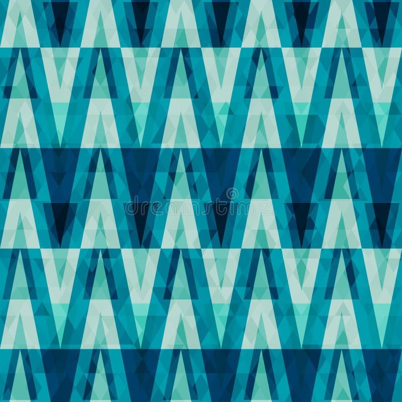 Modello senza cuciture del retro triangolo di cristallo illustrazione vettoriale