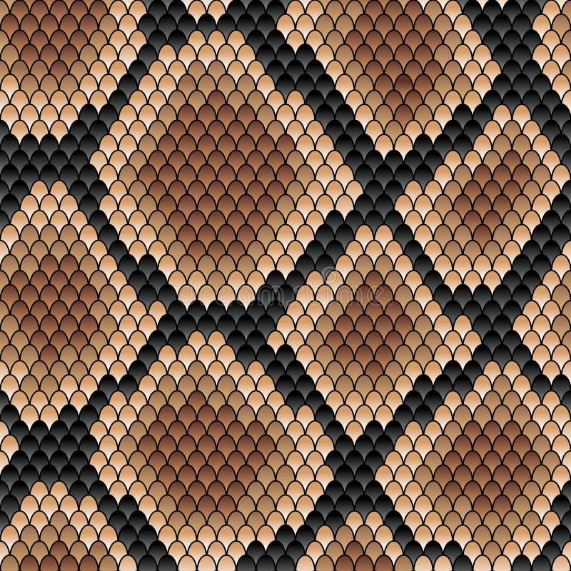 Modello senza cuciture del serpente di Brown illustrazione vettoriale