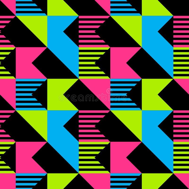 Modello senza cuciture del taglio diagonale illustrazione di stock