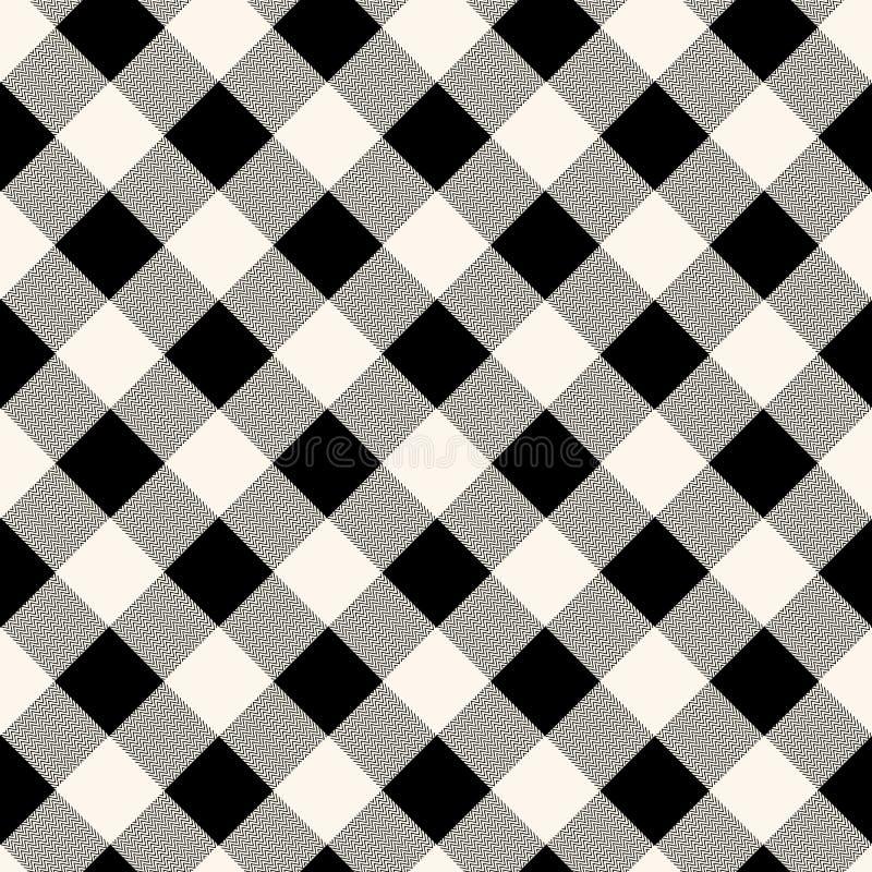 Modello senza cuciture del tessuto a quadretti del percalle nel grey blu e nel bianco, vettore illustrazione vettoriale