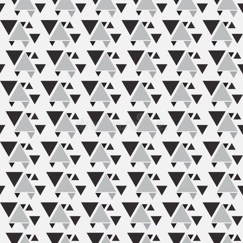 Modello senza cuciture del triangolo astratto Fondo del modello del triangolo royalty illustrazione gratis