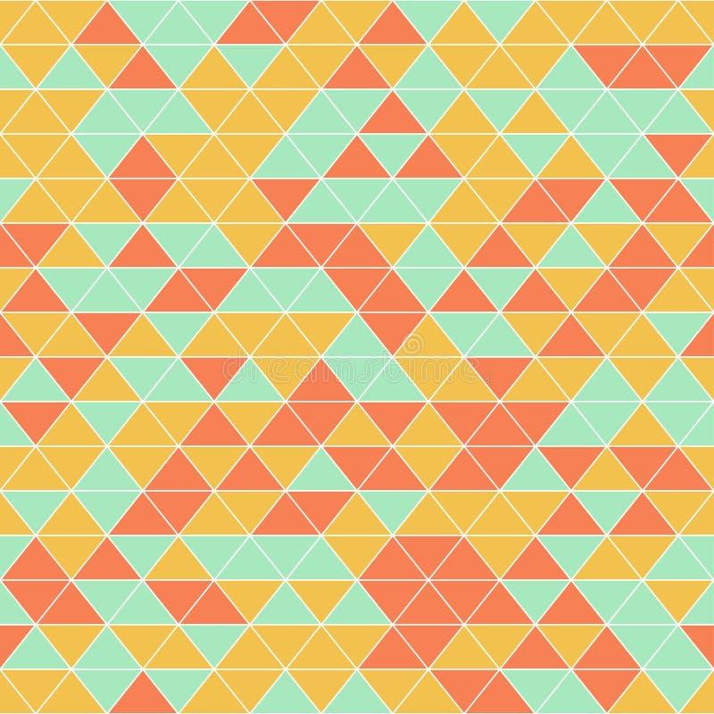 Modello senza cuciture del triangolo geometrico astratto royalty illustrazione gratis