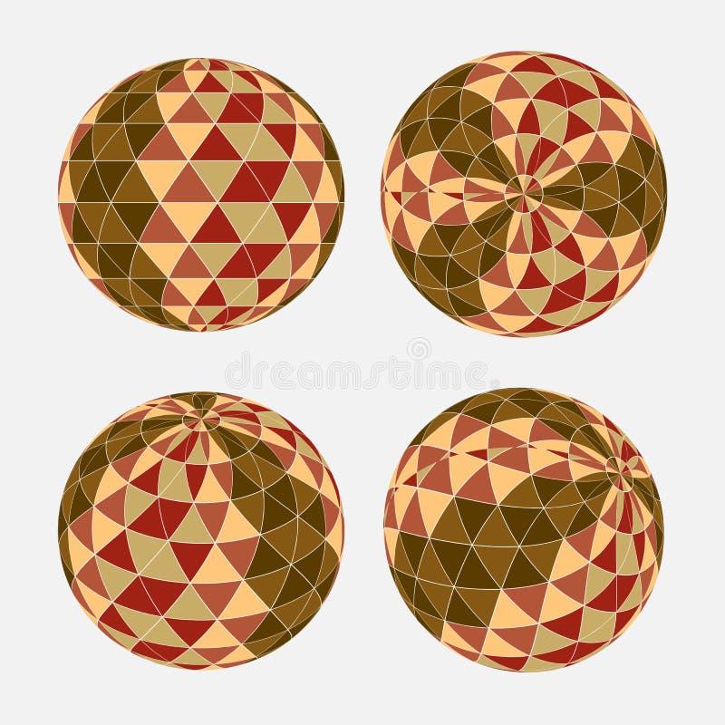 Modello senza cuciture del triangolo nella forma del cerchio Fondo di vettore fotografia stock libera da diritti