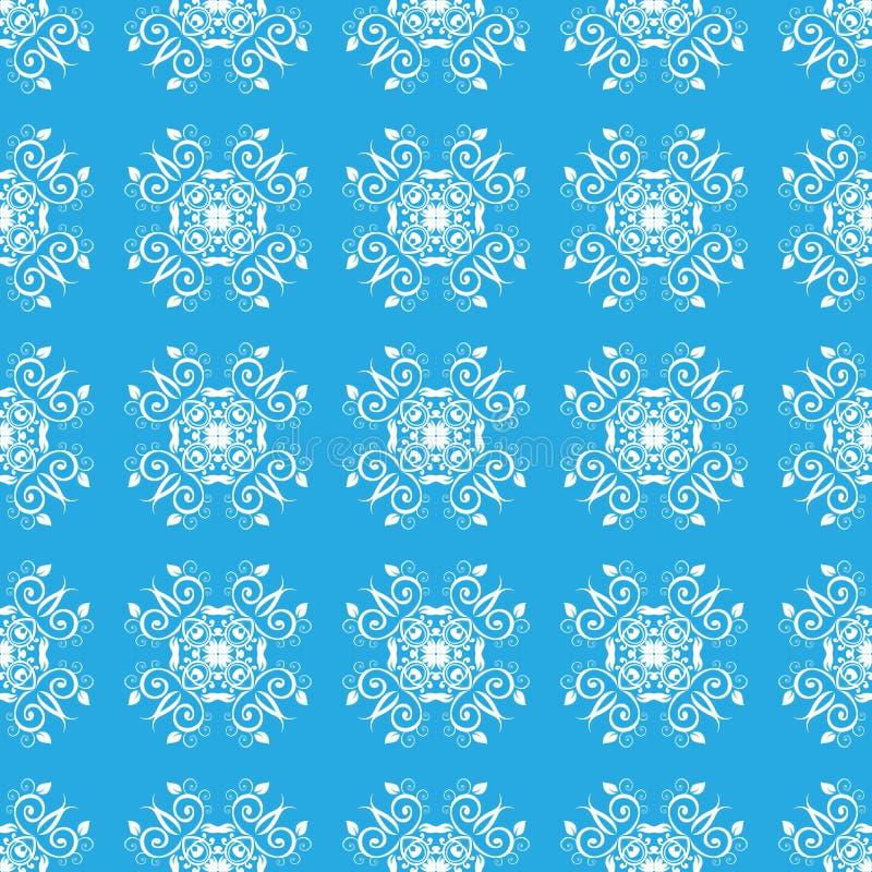 Download Modello Senza Cuciture Delicato Blu Illustrazione Vettoriale - Illustrazione di ornate, background: 56884205