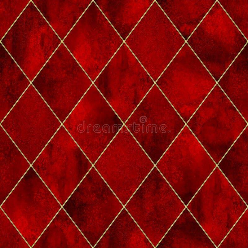 Modello senza cuciture dell'acquerello sanguinoso di lerciume di Argyle royalty illustrazione gratis
