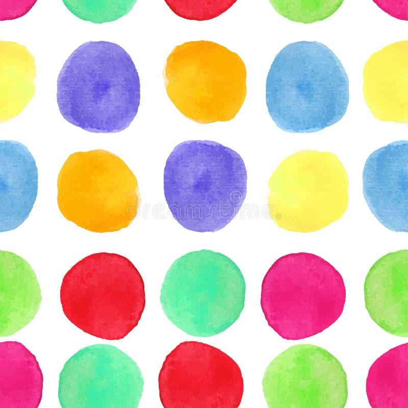 Download Modello Senza Cuciture Dell'acquerello Variopinto Con I Cerchi Il Fondo Con Dipinto In Tondo Spruzza Illustrazione Vettoriale - Illustrazione di bambini, concetto: 56881101