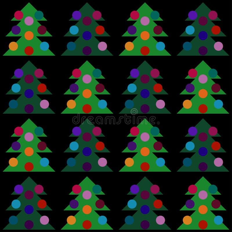 Modello senza cuciture dell'albero di Natale di vettore illustrazione vettoriale