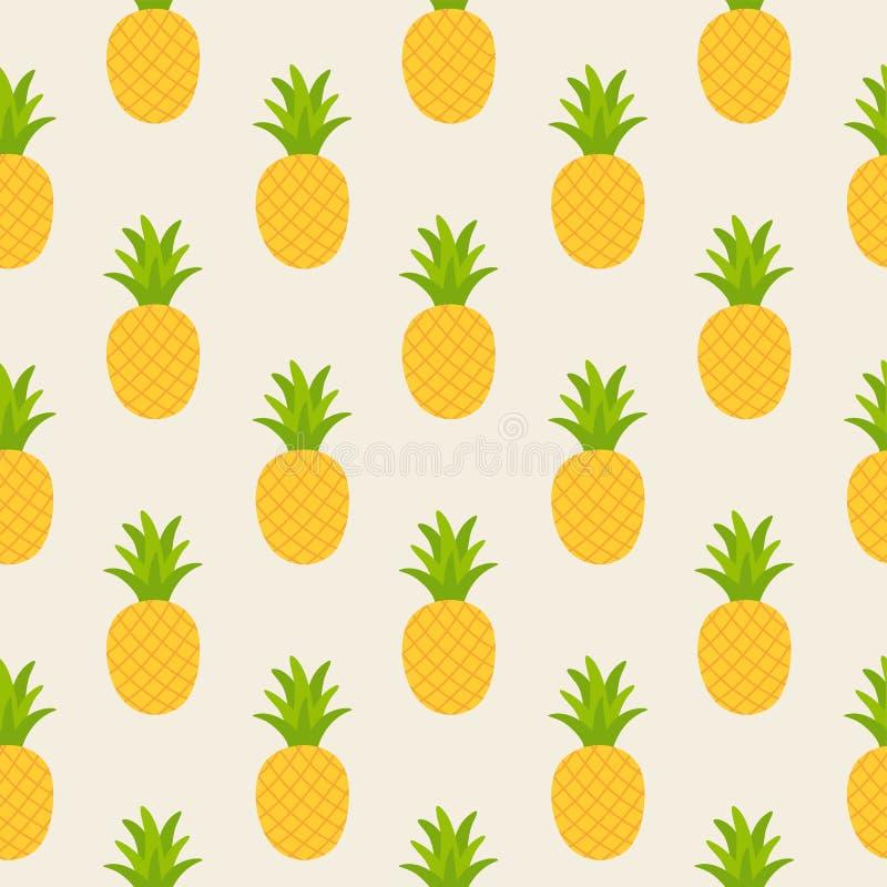 Modello senza cuciture dell'ananas giallo royalty illustrazione gratis